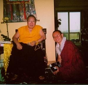 H.H. Penor Norbu Rinpoche with Lhoppön Rinpoche